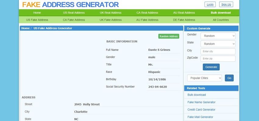 Fake proof of payment generator
